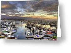Santa Barbara Harbor Sunset Greeting Card