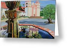 Santa Barbara Mission Greeting Card