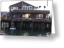 Santa Barbara Pier At Dusk Greeting Card