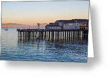 Santa Barbara Wharf At Sunset Greeting Card