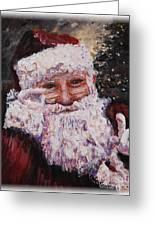 Santa Chat Greeting Card