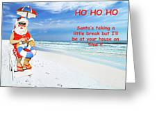 Santa Christmas Greeting Card Greeting Card