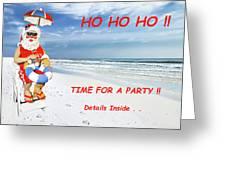 Santa Christmas Party Invitation Greeting Card