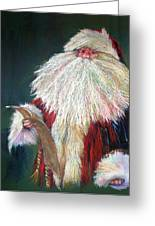 Santa Claus  Making A List And Checking It Twice Greeting Card by Shelley Schoenherr