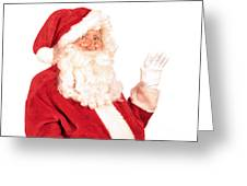Santa Claus Waving Hand Greeting Card