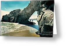 Santa Cruz Beach Arch Greeting Card