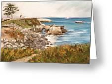 Santa Cruz By The Bay Greeting Card by Ann Caudle