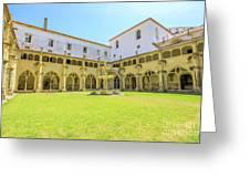Santa Cruz Monastery Cloister Greeting Card