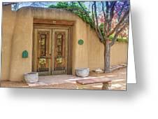 Santa Fe Adobe Front Greeting Card