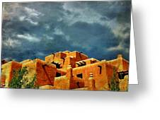 Santa Fe Adobe Greeting Card