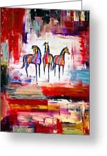 Santa Fe Dreams Horses Greeting Card