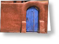 Santa Fe Gate No. 3 - Rustic Adobe Antique Door Home Country Southwest Greeting Card