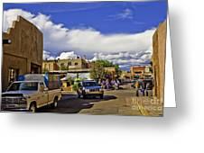 Santa Fe Plaza 2 Greeting Card