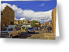 Santa Fe Plaza 2 Greeting Card