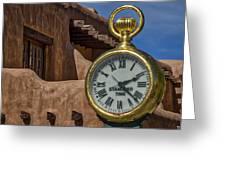 Santa Fe Plaza Clock Greeting Card