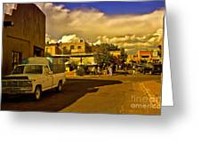 Santa Fe Plaza Greeting Card