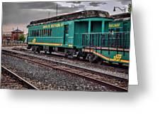 Santa Fe Rail Yard Greeting Card