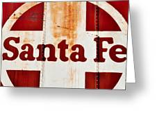 Santa Fe Railway Greeting Card