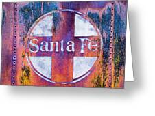 Santa Fe Rr Greeting Card by Lou Novick