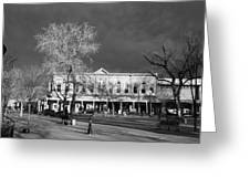 Santa Fe Town Square Greeting Card