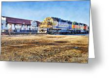Santa Fe Train In Ardmore Greeting Card
