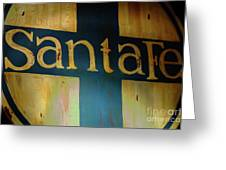 Santa Fe Vintage Sign Greeting Card