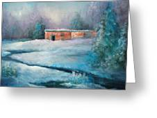 Santa Fe Winter Greeting Card