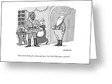 Santa For A Thousand Years Greeting Card