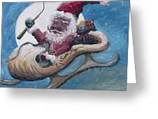 Santa Hog Greeting Card