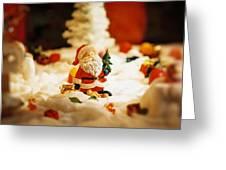 Santa In Town Greeting Card