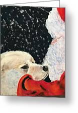 Santa Loves Dogs Greeting Card