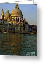 Santa Maria Della Salute In Venice In Morning Light Greeting Card