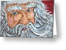 Santa - Merry Christmas Art Greeting Card