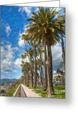 Santa Monica Ca Palisades Park Bluffs  Greeting Card