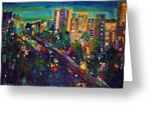 Santa Monica Glow Greeting Card