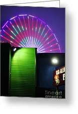 Santa Monica Pier After Dark Greeting Card