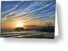 Santa Monica Pier Greeting Card