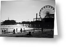 Santa Monica Pier Greeting Card by John Gusky