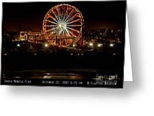 Santa Monica Pier October 18 2007  Greeting Card