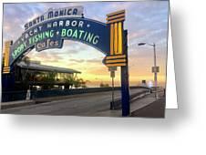 Santa Monica Yacht Harbor Sign Greeting Card