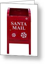 Santa Red Mail Box Greeting Card
