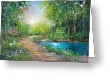 Santa Rosa Creek Path Greeting Card