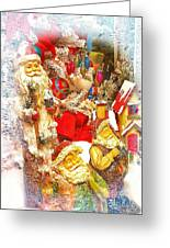 Santa Scene 1 Greeting Card