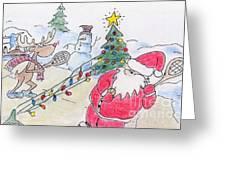 Santa Slam Greeting Card