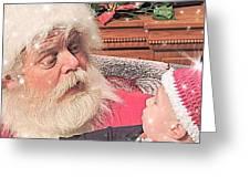 Santa Stars  Greeting Card
