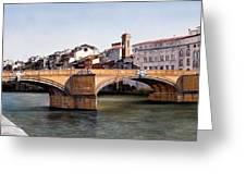 Santa Trinita Bridge Greeting Card