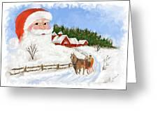 Santas Beard Greeting Card