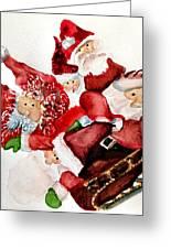 Santas Greeting Card by Dana Patterson