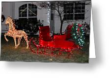 Santa's Sleigh Greeting Card