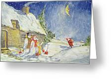 Santa's Visit Greeting Card